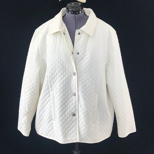 Kim Rogers White Coat With Snaps